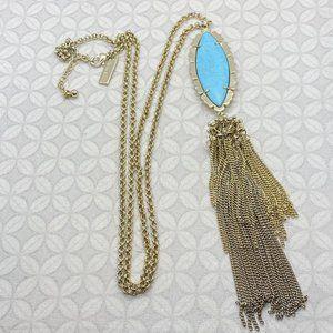 Kendra scott custom Neva tassel necklace turquoise